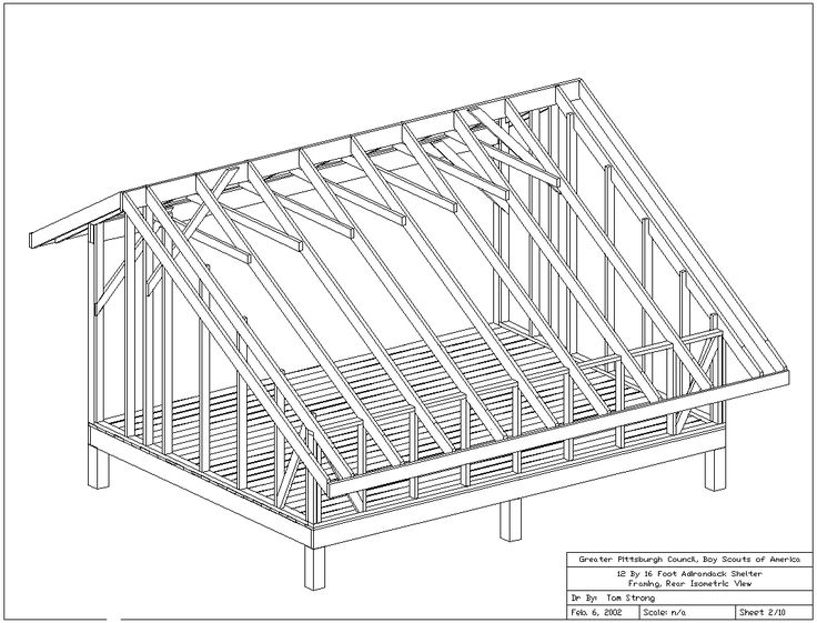 Adirondack Shelter Plans (All Drawings) | Woodworking Plans ...
