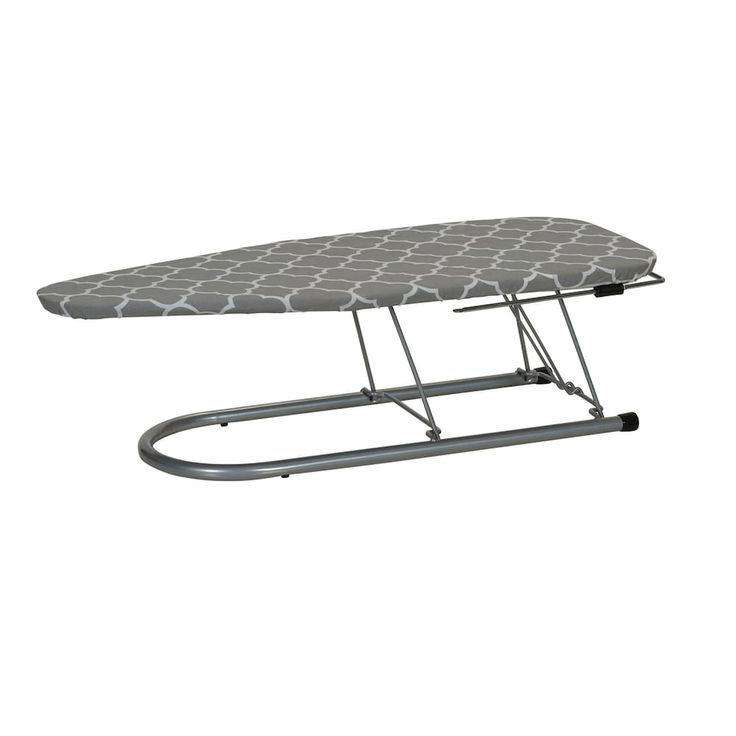 Household Essentials Silver-Tone Tabletop Ironing Board, Silver