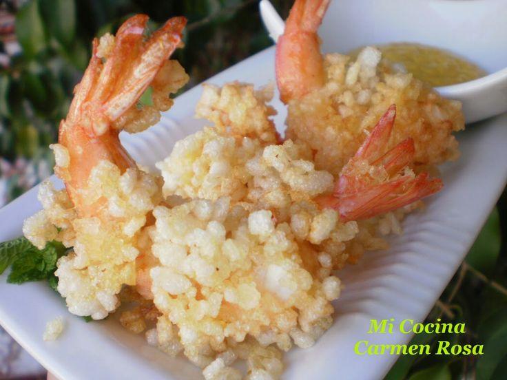 Mi cocina: LANGOSTINOS MARINADOS EN SALSA DE SOJA Y LIMON CON...