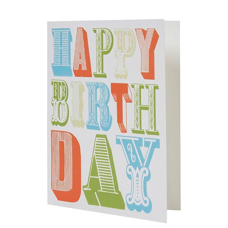 Postkaart Fancy Happy B-day , Multi