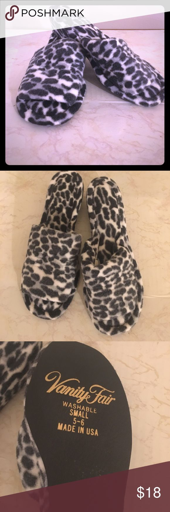 Vintage Vanity Fair Pin Up Animal Print Slippers NWOT. True Vintage. Super cute !!! Perfect for Rock A Billy Girls!! So fun! vanity fair Shoes Slippers