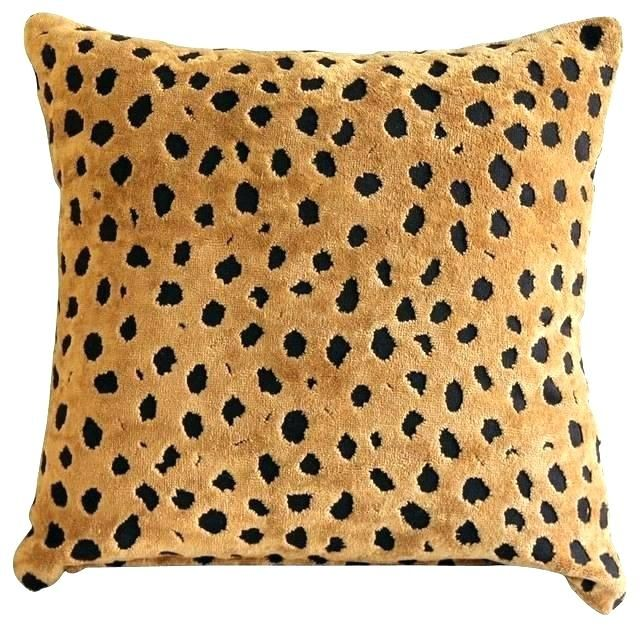 Leopard Print Pillows Awesome Throw