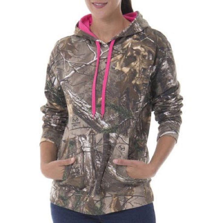Realtree Womens Camo Fleece Pullover Hoodie, Realtree Xtra, XL