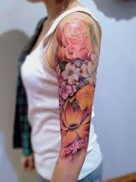 Afbeeldingsresultaat voor tattoo bloemen sleeve vrouw
