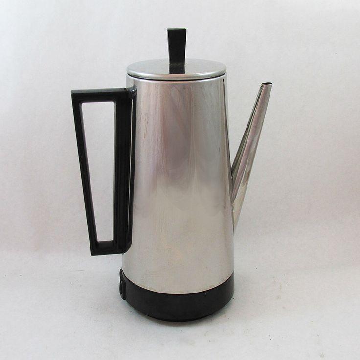 Mid Century Presto Electric Percolator - Coffee Maker- 10 Cup by coffeetropolis on Etsy https://www.etsy.com/listing/230711130/mid-century-presto-electric-percolator