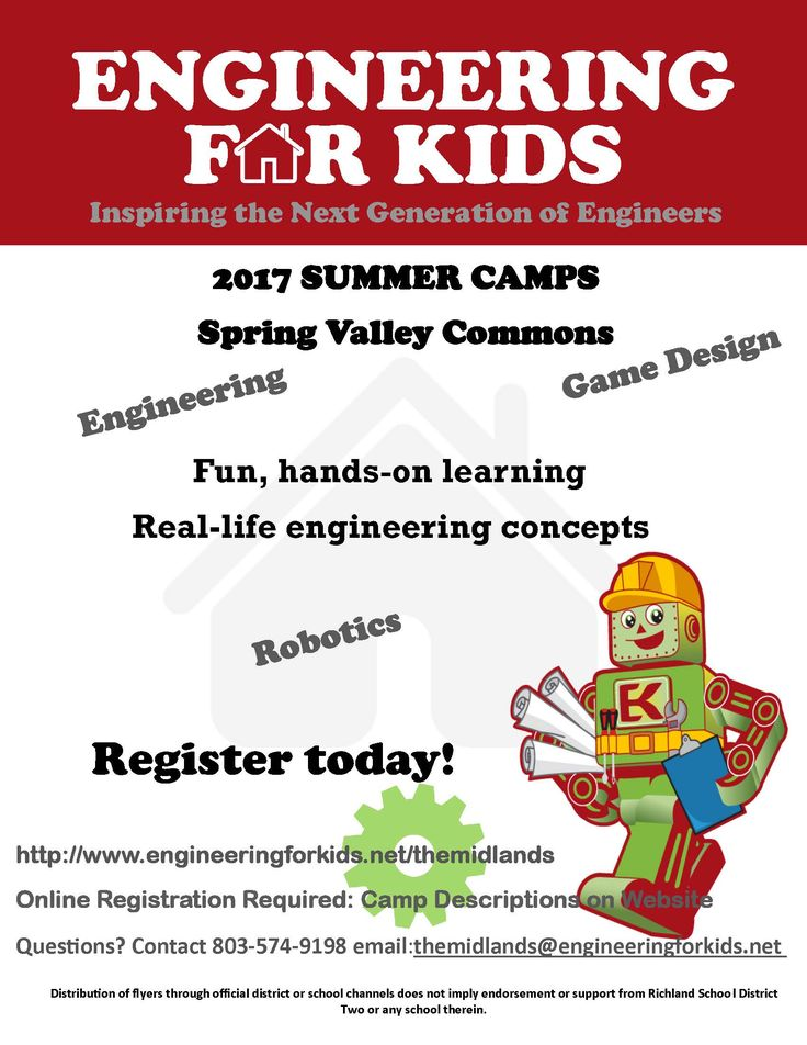 Engineering for kids camps