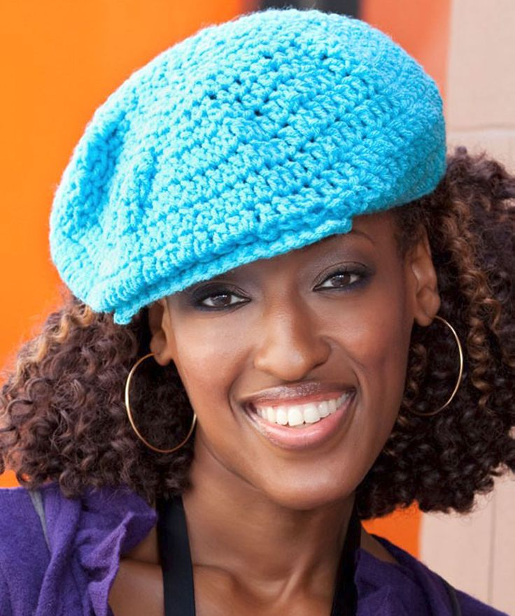 Free Crochet Pattern For Newsboy Hat : Newsboy Hat Women Crocheted hats Pinterest