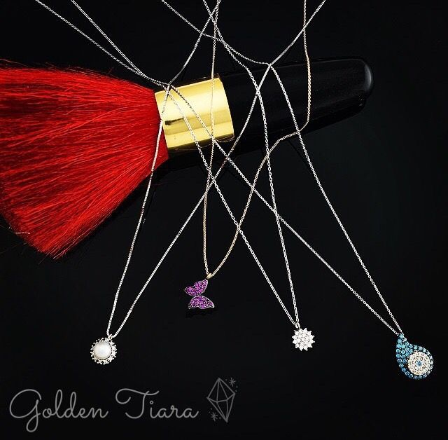 Beautiful necklaces for this summer. Find them on www.goldentiara.gr