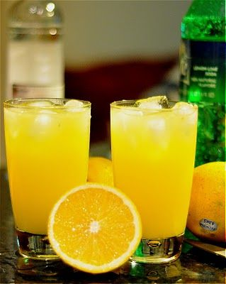 Orange Crush: vodka, triple sec, fresh squeezed orange juice & splash of sprite!