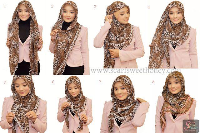 Model Jilbab Leopard dan Jas Pink | http://modelmodeljilbab.com/model-jilbab-yang-pas-dan-cocok-untuk-jas/