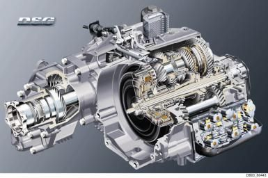 What is a Twin Clutch / Direct Shift Gearbox (DSG) and How Does it Work?: Volkswagen dual-clutch transmission cutaway