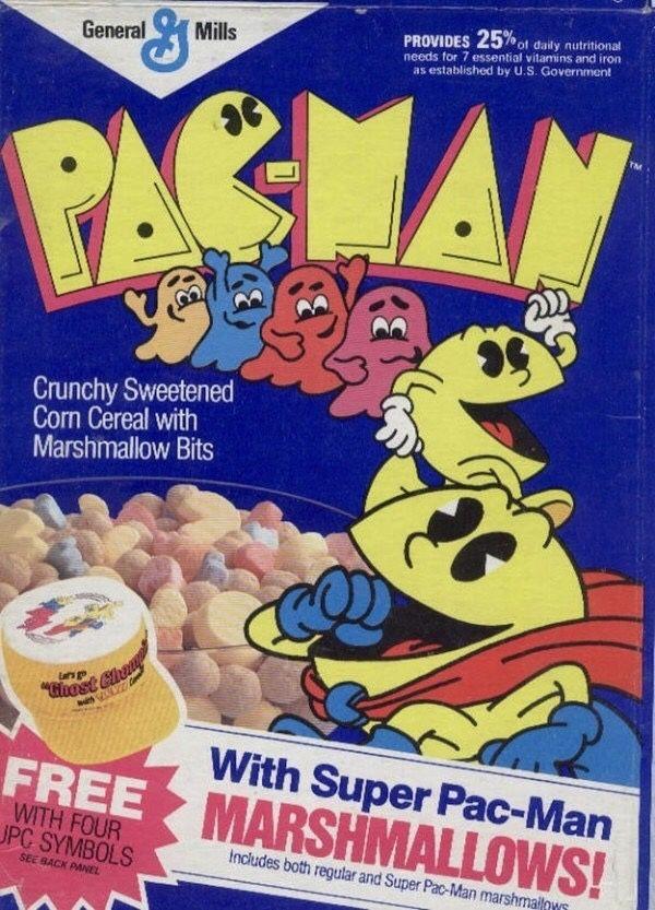 Pac-Man Cereal  #retrogaming #oldschool #pacman #food