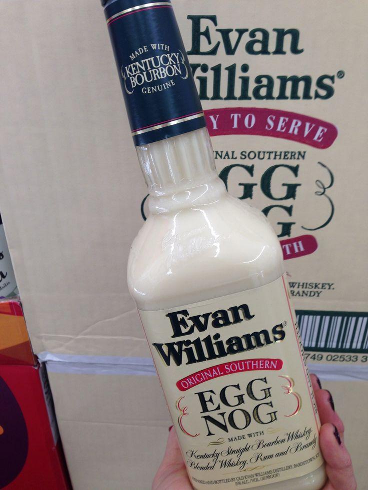 Evan Williams Eggnog-a holiday tradition.