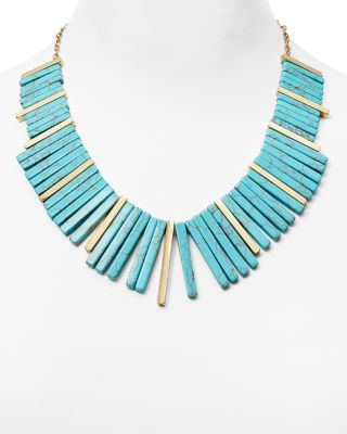 BAUBLEBAR Pharoah Bib Necklace, 16"