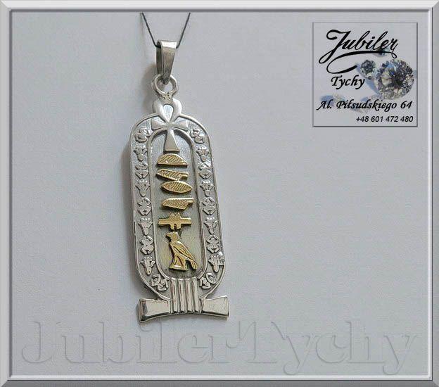 #Srebrny #wisior #EGIPT duży #talizman #KARTUSZ #amulet (dwustronny) #cartouche z #Egiptu #Silver #srebro #Jubiler #Tychy #Jeweller #Tyski #Złotnik #Zaprasza #Promocje : ➡ jubilertychy.pl/promocje 💎  📖 Kartusz to słowo pochodzące z francuskiego: oznacza owalną ramkę, w której umieszczano imiona władców, symbole i napisy ochronne. Kartusz był symbolem władzy królewskiej rozciągającej się na wszystko dookoła. Starożytni Egipcjanie używali kartuszy dla oznaczenia władców Egiptu.