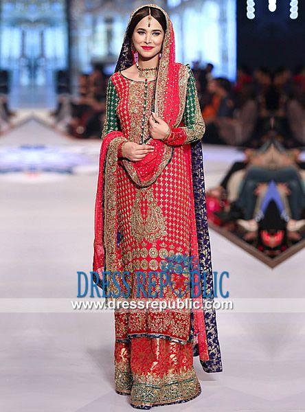 Red Wedding Dresses by Pakistani Fashion Designers  Pakistani Red Bridal showcased at Pantene Bridal Couture Week 2014 Karachi. Shop Online in London and Birmingham, UK. London Phone 0208 123 4031. by www.dressrepublic.com
