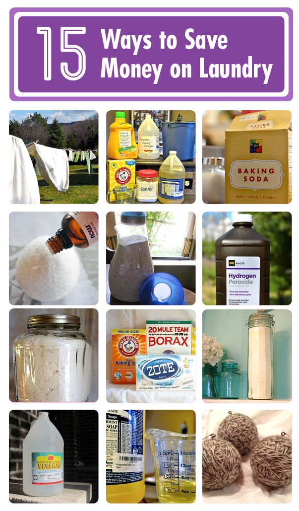 15 ways to save money on laundry! ---> http://www.hometalk.com/b/625895/laundry-recipes
