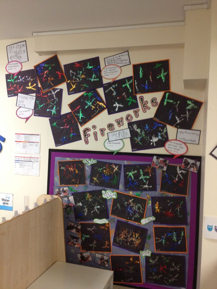 Fireworks display in my Reception class.