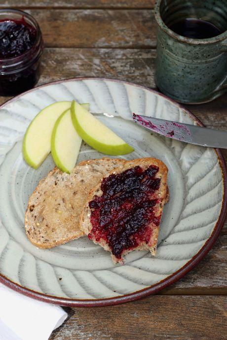 Rhubarb and blackcurrant savoury jam