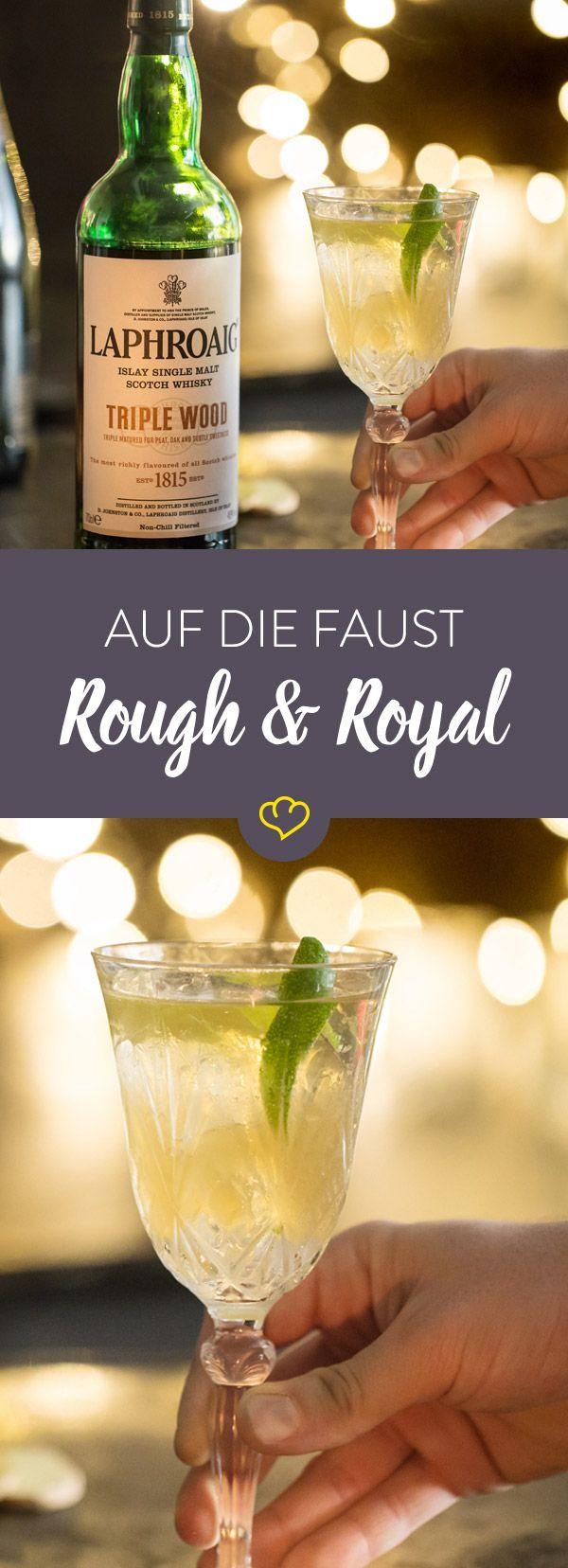 Es gibt immer etwas zu feiern! Wie wäre es mit einem außergewöhnlichen Cocktail aus Laphroaig Triple Wood und Champagner?! Ein perfekter Silvester Drink!