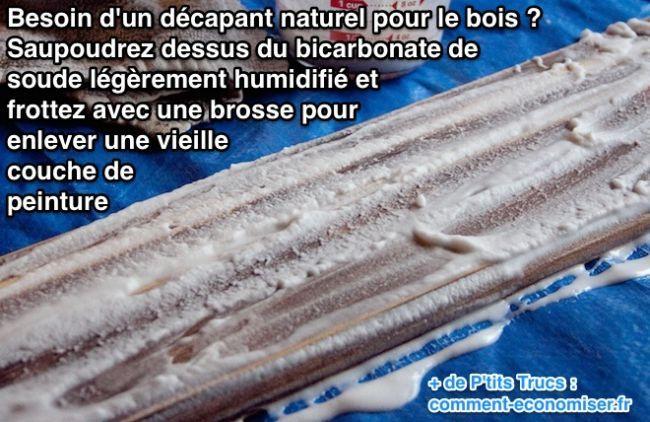 Utilisez du bicarbonate de soude pour décaper du bois