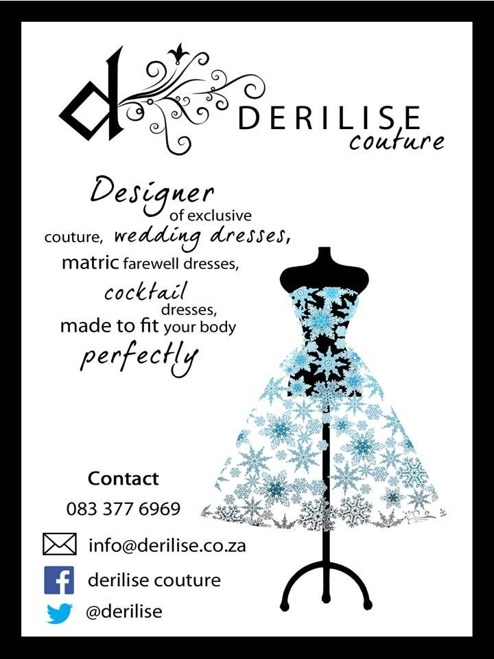 "Derilise Couture features signature gowns as well as a brand new line of ""Desire""handbags - this girl is going to the top!  http://klerksdorpweddings.co.za/wwwklerksdorpweddingscoza/blog/derilise-couture-wedding-dresses-klerksdorp"