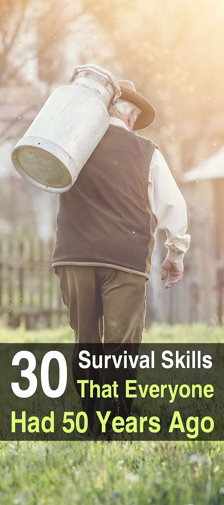 """There was a time when gardening, purifying water, and building a fire were considered common knowledge. Now they're called """"survival skills."""""""