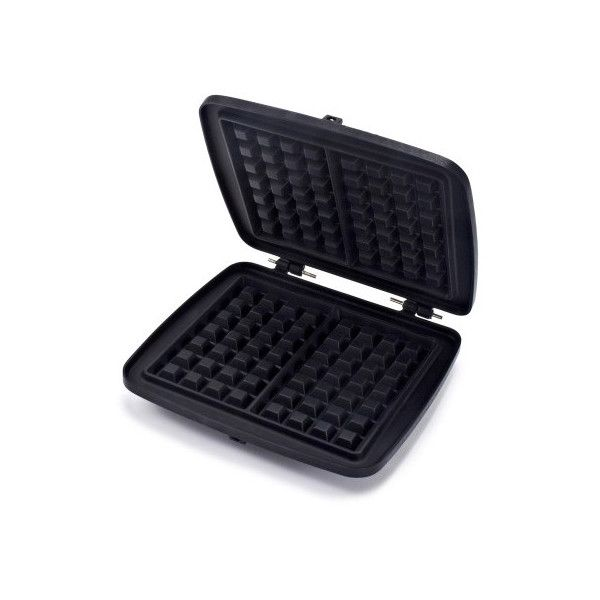 Croquade Traditional Waffle Plate ($40) ❤ liked on Polyvore featuring home, kitchen & dining, small appliances, traditional waffle maker, traditional waffle iron and sur la table