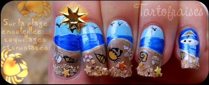 Nail Art concours plage LM Cosmetic | Tartofraises