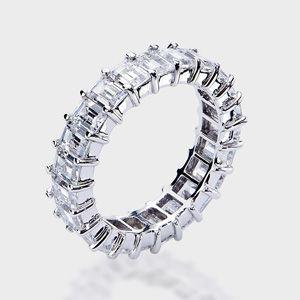 Emerald Cut 14k Wedding Band This High Quality Cubic Zirconia