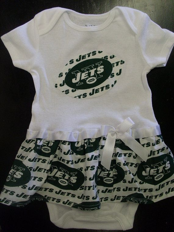 e26590700ec New York Jets Inspired Baby Dress by SportyBabes on Etsy