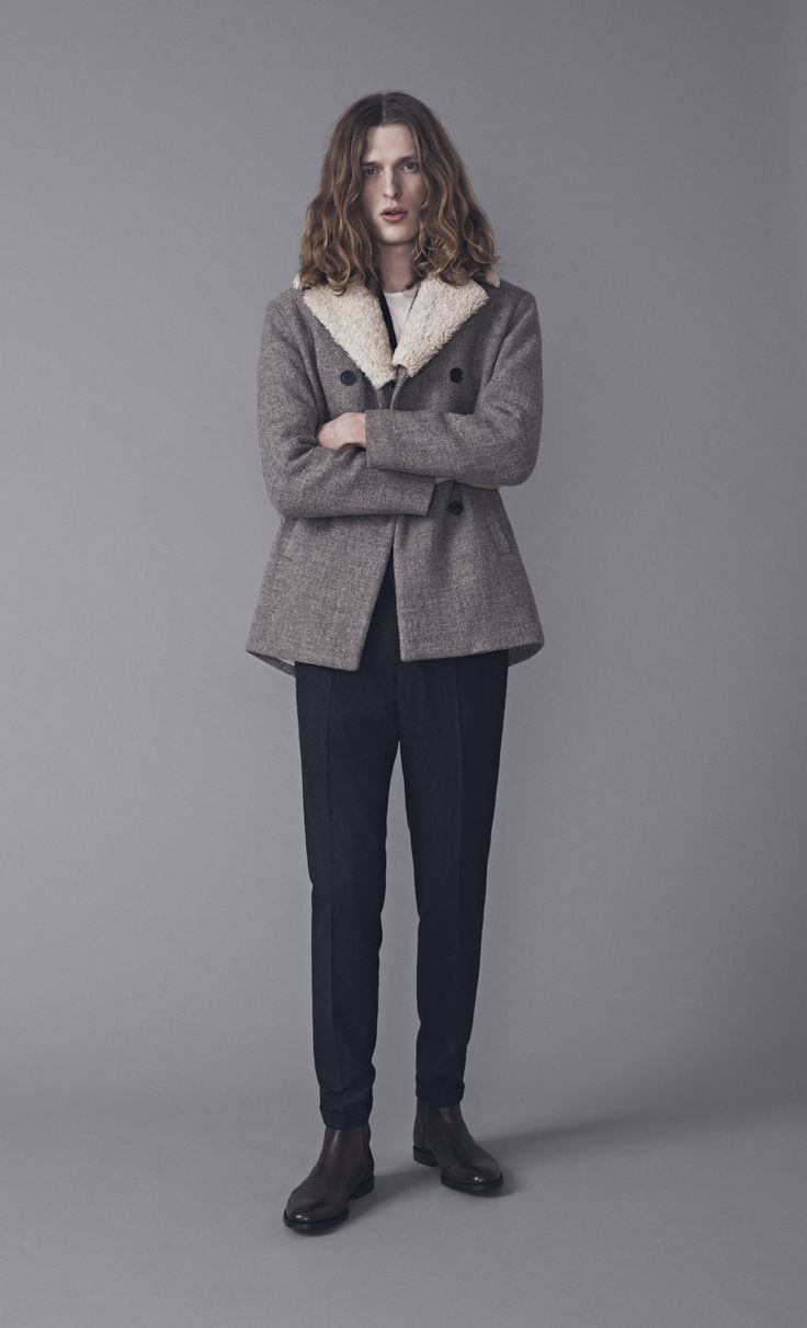 Capaldi Coat, Tee Shirt and Presley Trousers   Samuji Man FW15 Collection