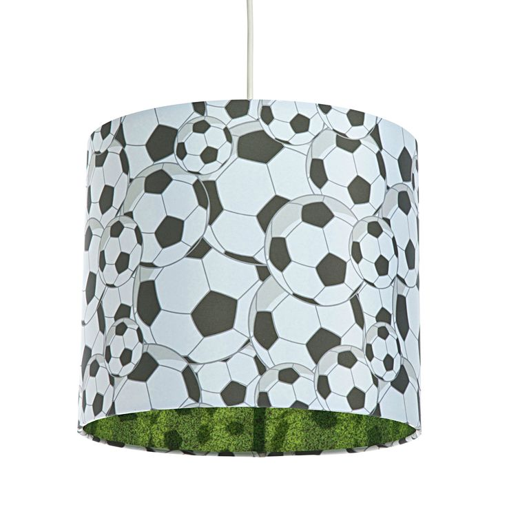 Colours Black & White Football Light Shade (D)25cm | Departments | DIY at B&Q