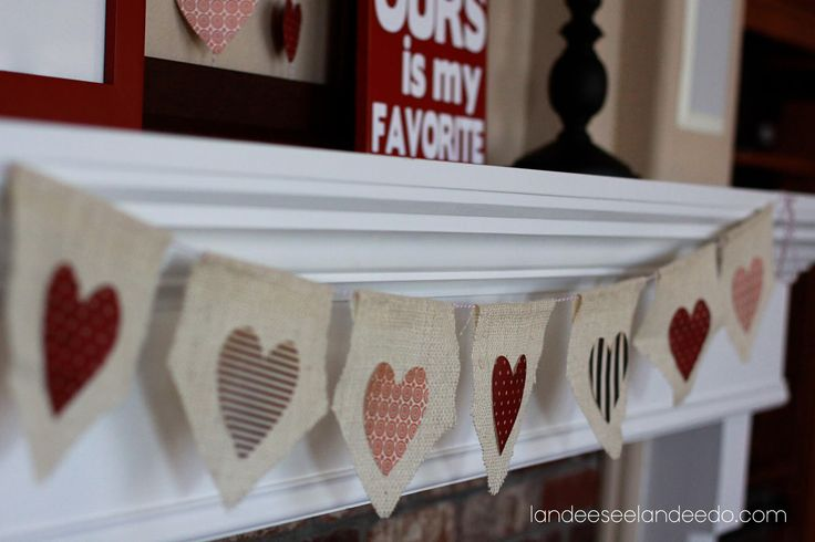 Valentine's Day mantel complete! And I'm thinking it's pretty dang cute and festive. I decided to go reds and browns this year. Pink home decor isn't really sitting well with me right now. So I made the burlap bunting a little while ago. You can see the tutorial for that HERE. And I'm not really …