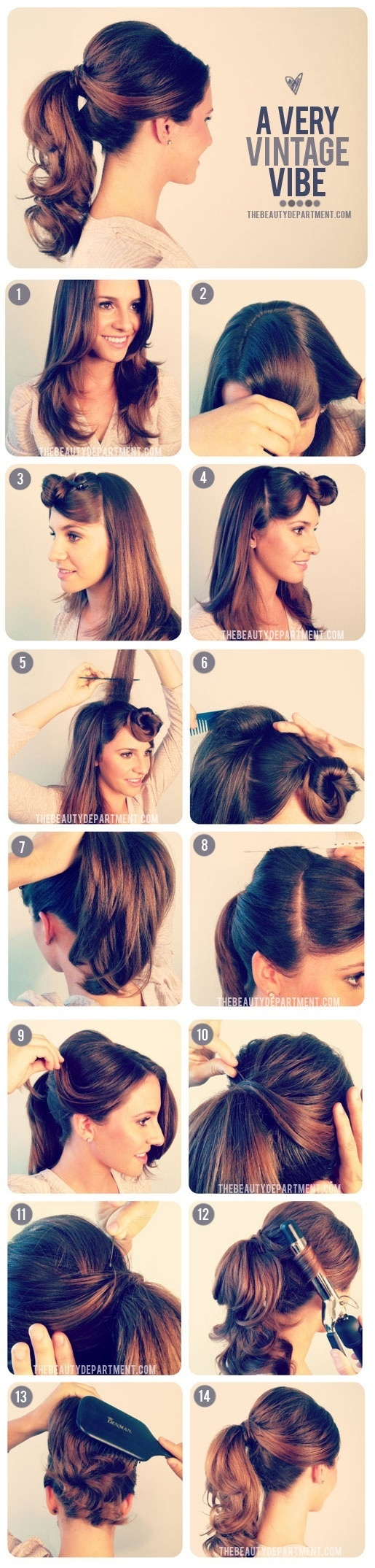 1950′s Inspied Ponytail