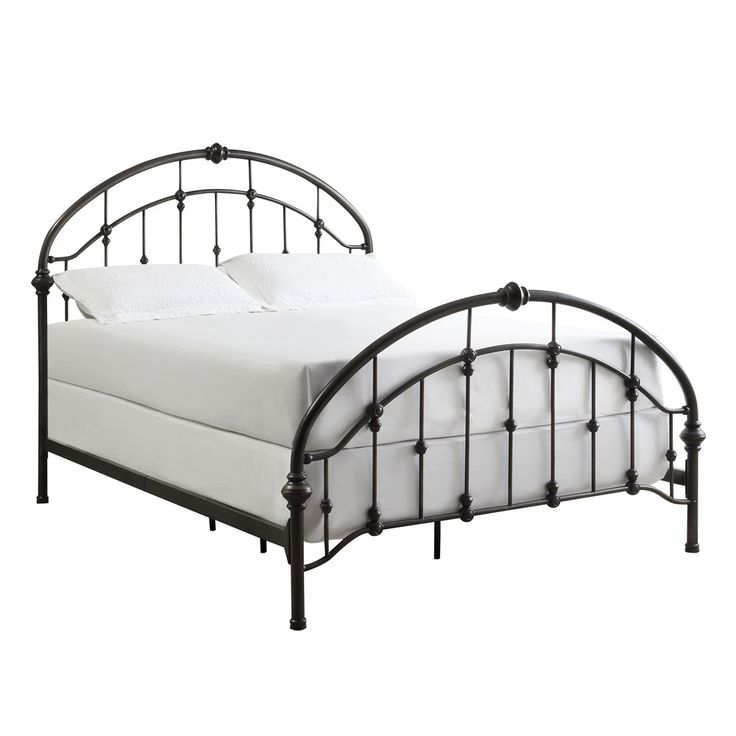 inspire q lacey round curved double top arches victorian kingsize antique dark bronze iron queen bed framesmetal