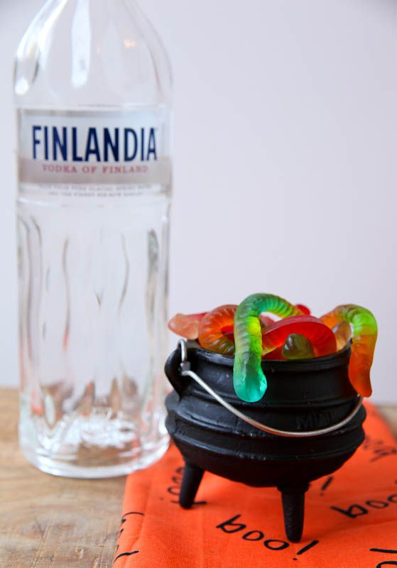 "Are you ready to enjoy an edible cocktail this Halloween?  Learn how to make ""Vodka Gummy Worms!"""