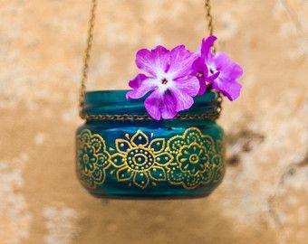 HENNA pattern lantern henna wedding by MagicFeatherShop on Etsy