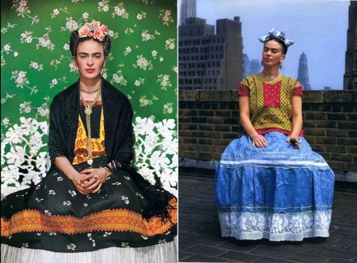 Цветные фотографии Фриды Кало.