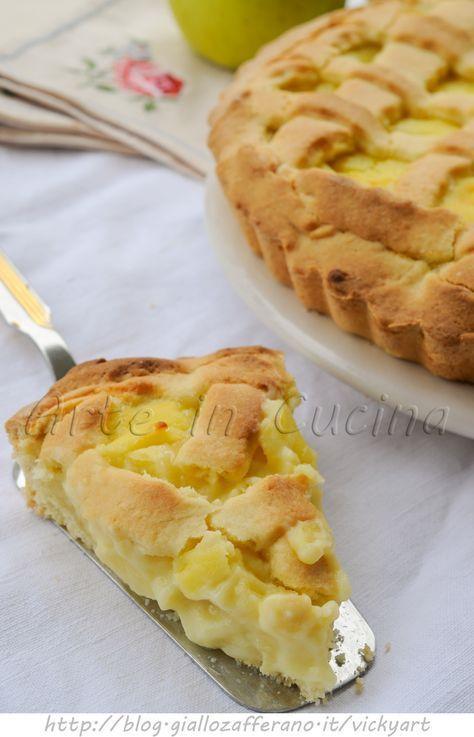 Tart with apples and custard - Crostata con mele e crema pasticcera vickyart arte in cucina