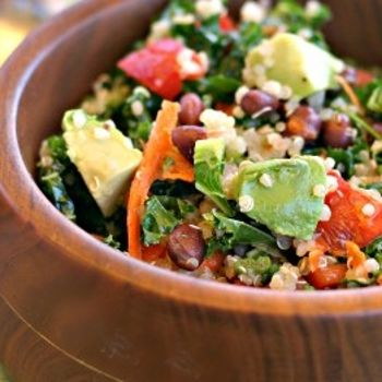 ... Quinoa Bean Salad Recipes on Pinterest | Black bean salads, Kale and