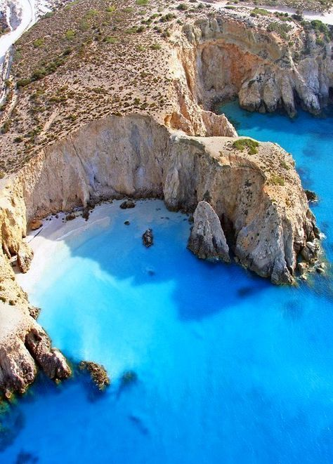 Clear, gorgeous waters at the Milos Island (Cyclades) in Greece.