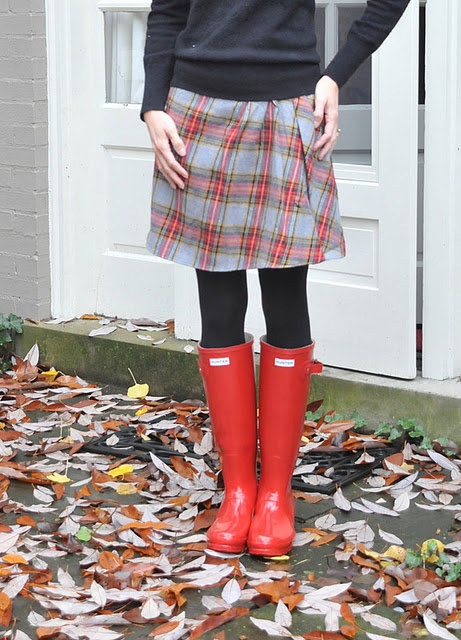 I would love some of these Hunter rain boots in black or grey, Santa!