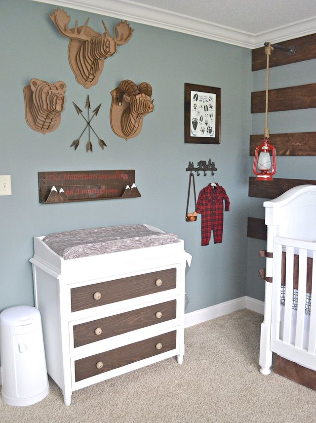 Rustic Outdoor Inspired Nursery - so perfect for a baby boy!