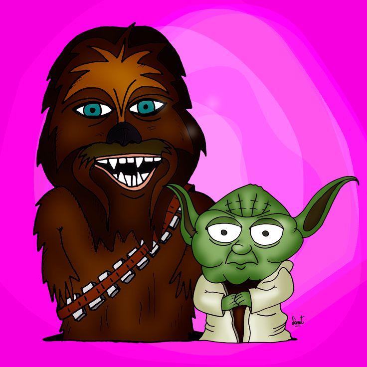 #Starwars #Chewbacca #Yoda #SantiagoCompte