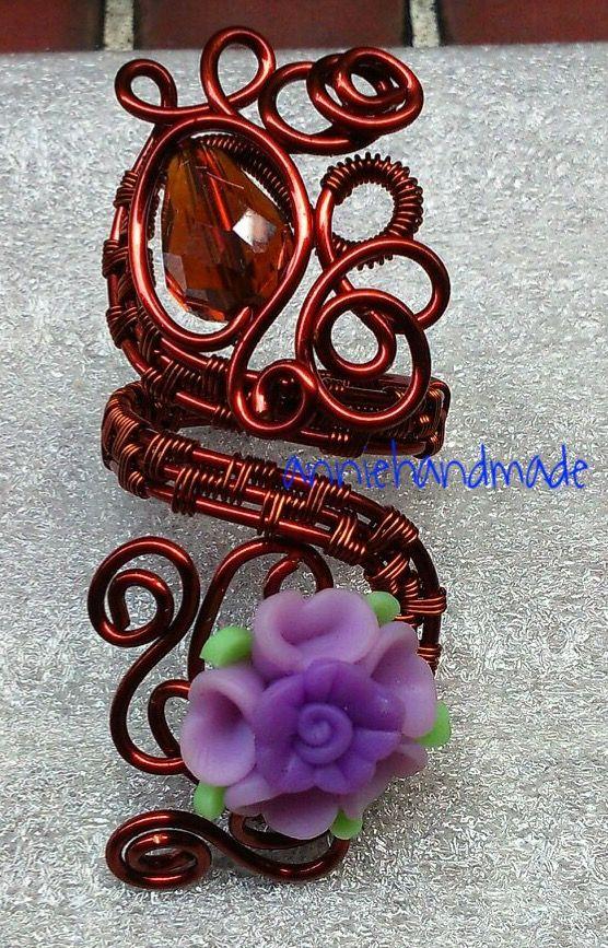 Cincin uwer bunga ungu