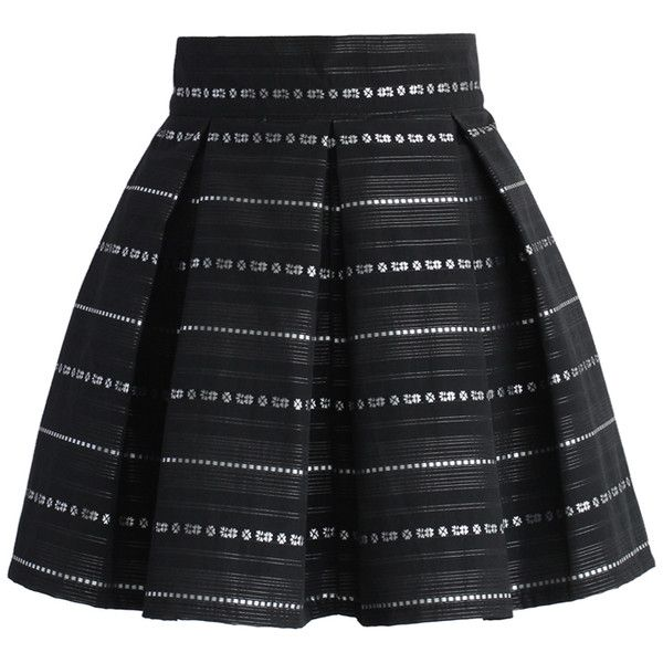Chicwish Line of Beauty Pleated Mini Skirt (€33) ❤ liked on Polyvore featuring skirts, mini skirts, bottoms, saias, black, faldas, chicwish skirt, wet look skirt, short skirts and short pleated skirt