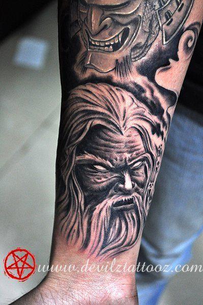 f255f1b58 Wizard Demon Tattoo | Forearm Tattoos | Tattoos, Forearm tattoo ...