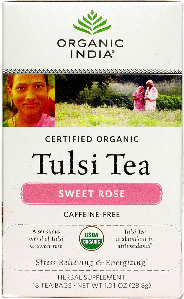 One of my most favorite & beloved teas! Also made by a super wonderful company--->Organic India<--- Tulsi Tea, Sweet Rose