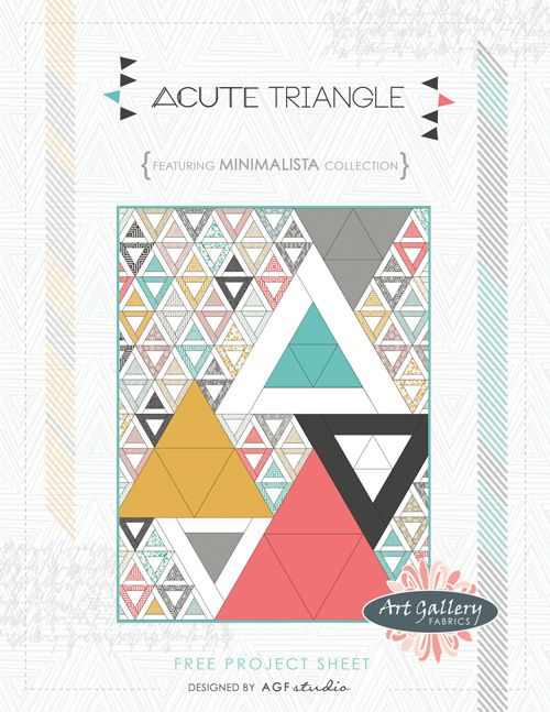 Acute Triangle free quilt pattern (reminds me of @Anna Totten Townsend)